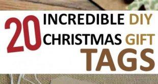20 Incredible DIY Christmas Gift Tags –