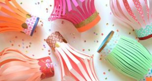 Festive Paper Lanterns DIY by Brenda Walton