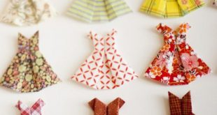 Joy of Giving: Origami Paper Dress Card