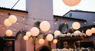 Pair our paper lanterns with our globe string lights to set your reception apart...