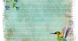 Printable Hummingbird Stationery – Pen Pal Papers