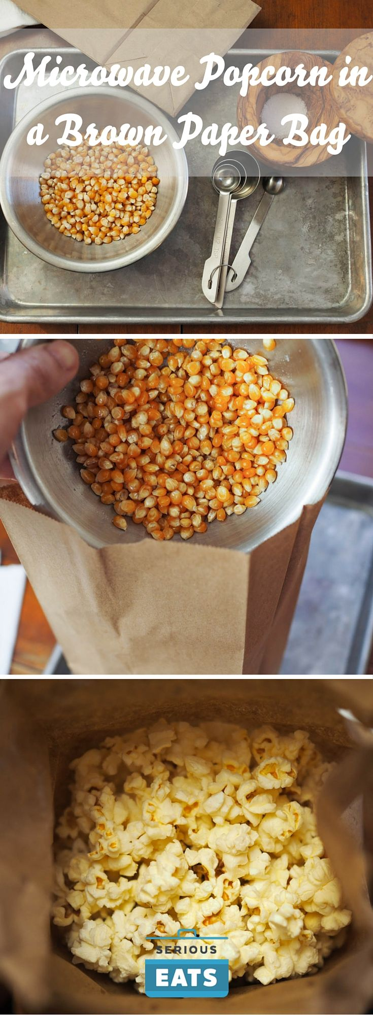 How to Make Microwave Popcorn in a Brown Paper Bag - Paper Diy