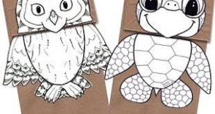 Origami n' Stuff 4 Kids: Crafts: Paper Bag Puppets, Owl and Turtle