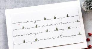 papierZART: Merry Christmas, handlettering, lettering, Illustration, handgeschri...