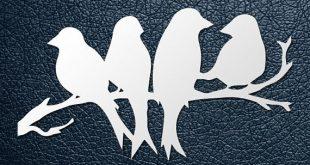 Four designs SVG / PDF cut file, Paper Cutting Template, Birds, papercut, diy project, vinyl, digital printing template