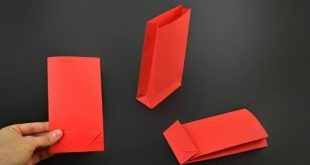 How to make a Paper Gift Bag - Version 2 - YouTube