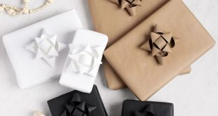 Monochrome Gift Wrapping + DIY Paper Gift Bows
