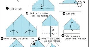 Origami Garbage Bin Tutorial on folding a plant container-box from newspaper. On...