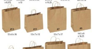 Paper Shopping Bags - Kraft