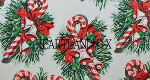 Printable Christmas Wrapping Paper Digital Image Candy Canes Download 300 DPI