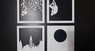 Spider Man [9x9 inch] - Paper Cutting Light Box Template files
