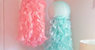 Aqua and Coral Jellyfish Paper Lanterns, Under The Sea Room Decorations, Colors ...