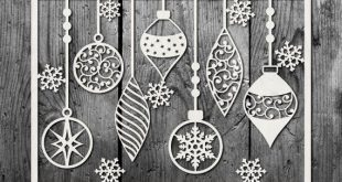 Baubles Design SVG DXF PDF Jpg Png - Papercutting/Vinyl Template to cut yourself (Commercial Use)