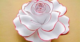 Giant Paper Flower with Red, Rose with Stem, Wedding Table Centerpiece, Flower Backdrop, Large Flower Blooms, Extra Large Rose for Vase