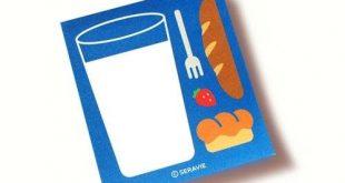 Memo Pad [Bread&Milk] / Blue Notepads / Writing Paper Memo Pad / Japanese Stationery / Scrapbooking / Christmas Gift / Bullet Journal