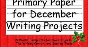 Monthly Primary Writing Paper: December!