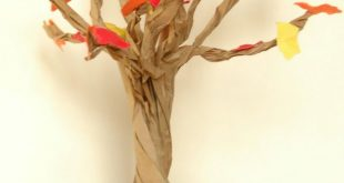Papier-Tüten-Baum-basteln-Herbst Pikadilly Charm: Paper Bag Fall Tree