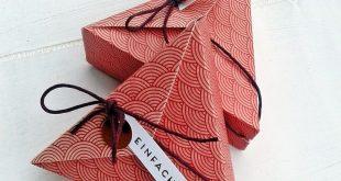 Papierspirale - Dreiecksbox