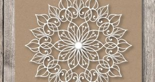 Templates mandala for laser cutting. Stencil mandala for cutting from a variety of materials. Pattern for DIY. SVG, EPS
