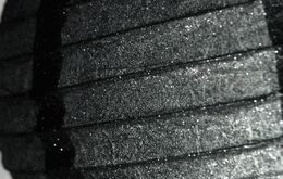 "12"" BLACK GLITTER Paper Lanterns"