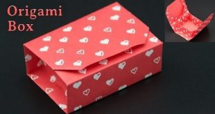 (17162) Geschenkbox basteln / Origami Box falten - DIY - YouTube