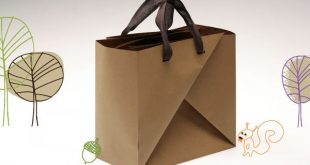BIGABAGA. Do-It-Yourself paper bag. Made from recycled piece of paper. No gl...