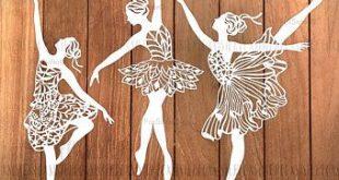 Ballerina SVG Bundle!! 3 Papercut Vorlagen Set 1 | Ballett Tänzerin Svg schneid...