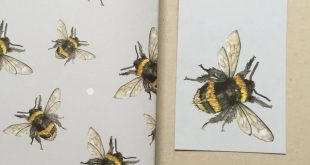 Bee Gift Wrapping Paper + Gift Tag Set