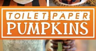 DIY Herbst Dekor Idee: Toilettenpapier Kürbisse (Cheap & Easy