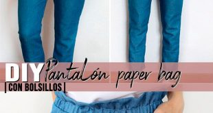 DIY Sewing | Cómo hacer un PANTALÓN estilo PAPER BAG PANTS CON BOLSILLOS ¡Es ...