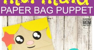 Easy Diy Paper Bag Mermaid Puppet & Free Template