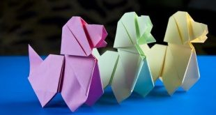 Easy way to make a paper Dog | Origami Dog - YouTube
