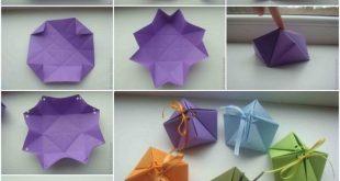 Geschenkschachtel für Bonbons selber falten