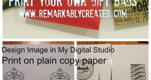 My Digital Studio Monday - Printing on Paper Bags