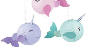 Narwhal Party Hanging Paper Lanterns