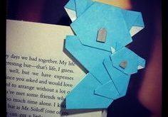 Origami-Koala (und Jungtier!) Lesezeichen (^_