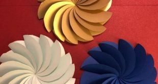 Paper Circle Flowers