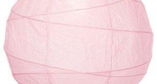 Pink Free-Style Ribbing Paper Lanterns