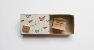 Romantische Liebeskarte / süße Liebe Matchbox-Karte / einzigartige Liebe Geschenk / Papier Flugzeuge zu Ihnen / Umschlag / ich liebe Dich so viel / LV015