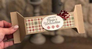 Selbstschließende Weihnacht Box, Stampin Up, Bonbon Box mit Anleitung