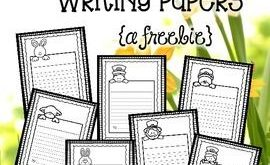 Spring Writing Paper Free (Lined Writing Paper)