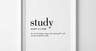 Studie Definition, Student Geschenke, Wohnheim Poster, College Student Geschenk, Wohnheim-Wand-Dekor, studieren lustige Definition, Geschenk für Schüler