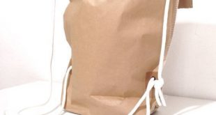 Super cool shopping bag / paper backpack....We