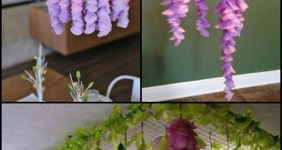 This is DIY paper wisteria gives a really beautiful result.