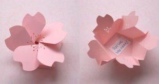 Tolle Bastelideen aus Papier - Origami-Blumenkasten