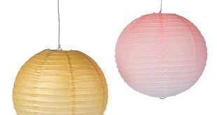 Valentine's Day Ombre Hanging Paper Lanterns Gold