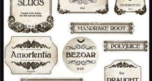 Zauberertrank und Halloween-Apotheke Druckbare Bilder und Etiketten für den privaten und kommerziellen Gebrauch