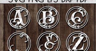 vine alphabet papercut bundle A-Z 26 and ornaments svg cutting file, laser cut family name designs, vinyl decal, cricut, silhouette dxf pdf